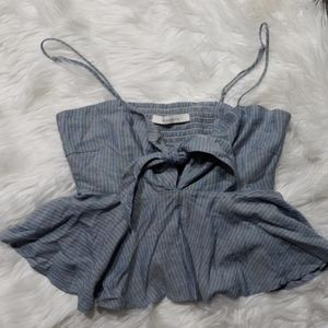 Ruffle loose blouse
